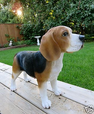 BEAGLE DOG STANDING FIGURINE resin animal Statue PET BROWN BLACK  NEW BEEGLE