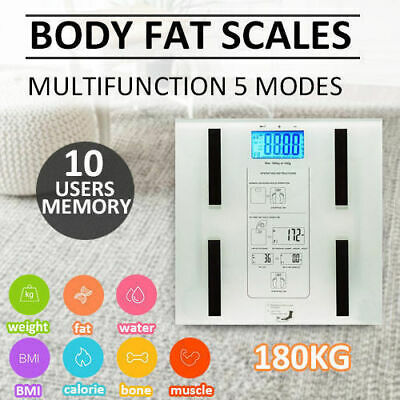 Digital Body Fat Scale Bathroom Scales Gym Weight Water Glass LCD Electronic