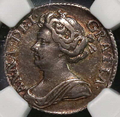 1711 NGC XF 40 QUEEN ANNE Silver 6 pence GREAT BRITAIN Coin (16111212C)