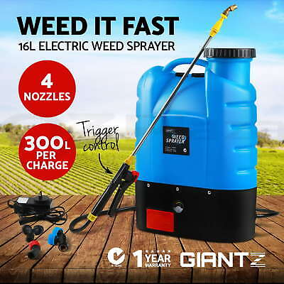 New Giantz 16L Rechargeable Backpack Weed Sprayer Garden Farm Pressure Chemical