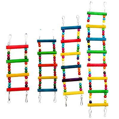 Colorful Swing Bird Toy Parrot Climb Cockatiel Parakeet Ladder Budgie Pet Toy #5