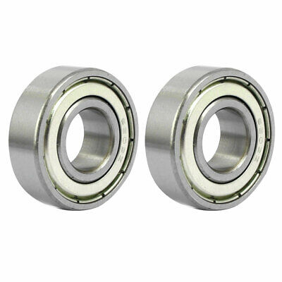 35mmx15mmx11mm Double Shielded Deep Groove Ball Bearing Silver Tone 6202Z 2pcs