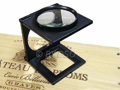 Foldable Magnifier with Imperial and Metric Markings on Base