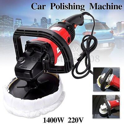 1400W 220V Electric Car Boat Polishing Polisher Machine Sander Buffer+Sponge Pad