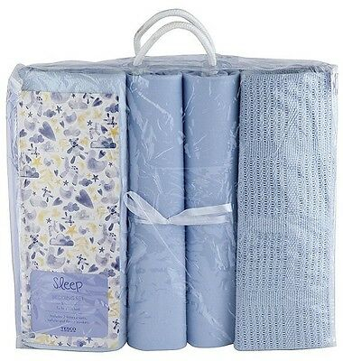 NEW Tesco 4 Pack Baby Bedding Bumper Set - Blue