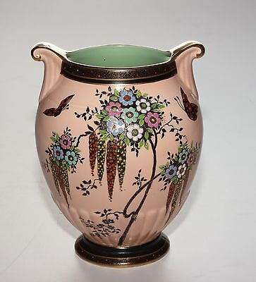 Crown Devon, Enamelled Vase.