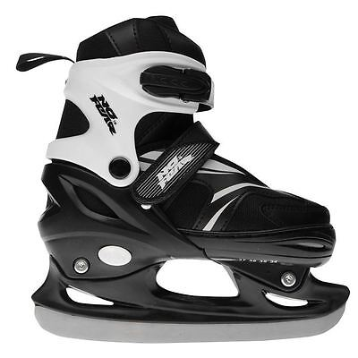 No Fear Kids Bolt Ice Skates Junior Boy Touch and Close Colour Contrasting Shoes