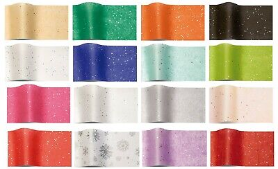 GEMSTONE WRAPPING TISSUE PAPER LARGE SHEETS ~ LUXURY SPARKLY GLITTER GEM 50x75cm
