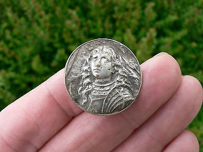 old France Silver Plate Medal joan of Arc