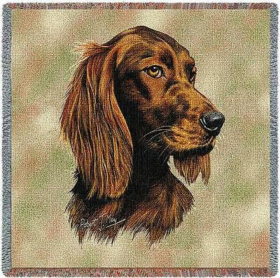 Lap Square Blanket - Irish Setter by Robert May 1140