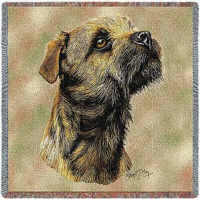 Lap Square Blanket - Border Terrier by Robert May 1139