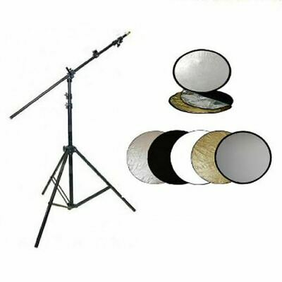 """ExPro 42"""" Collapsible Studio Photo Reflector, Holder Boom Arm & Maxi Light Stand"""