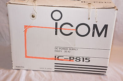 Icom IC-PS15 13.8 VDC @ 20 Amps Regulated Power Supply in Orig. Box