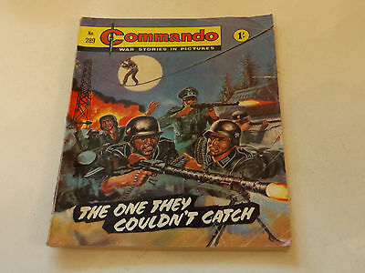 Commando War Comic Number 289!,1967 Issue,fair For Age,50 Years Old,very Rare