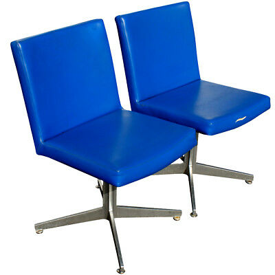 (2) Vintage Good Form Swivel Aluminum Arm Chairs (MR10004) 10 pairs available