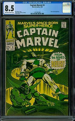 Captain Marvel 3 CGC 8.5 -OW/W Pages