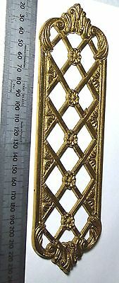 Vintage Heavy Brass Fancy Door Finger Plate
