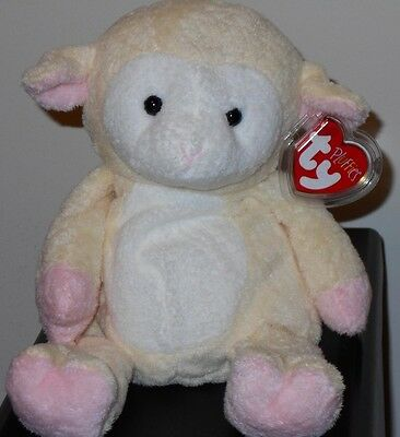 Ty Pluffies ~ SHEARLY the Lamb ~ MINT with MINT TAGS