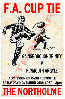 Gainsborough Trinity - Vintage Football Poster POSTCARDS - Choose from list