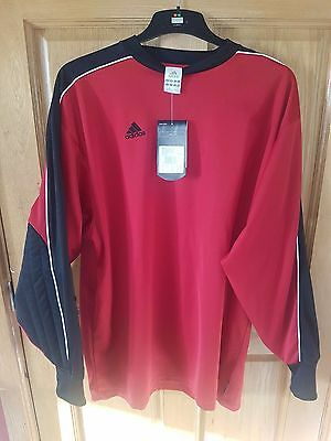 Adidas Red White And Black Goalkeepers Shirt Size 2Xl Maillot New With Tags