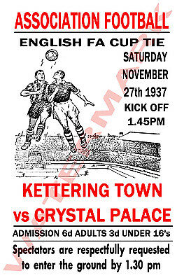 Kettering Town - Vintage Football Poster POSTCARDS - Choose from list