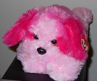 "Ty Classic Plush ~ YODELER the 15"" Pink Dog ~ MINT with MINT TAGS ~ RARE & HTF"