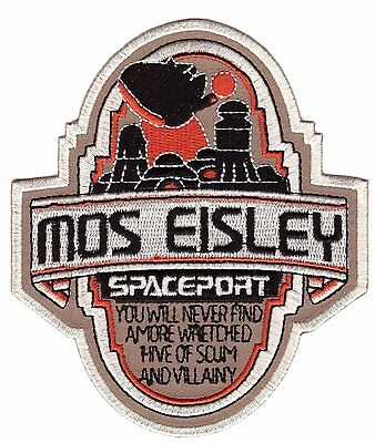 Iron on Mos Eisley Spaceport Star Rebel Scum Wars Collectible Patch