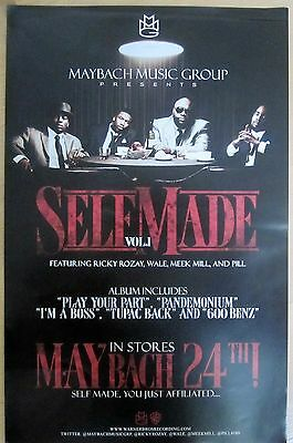 Maybach Music - Rap - SELF MADE Vol. 1 Double-Sided Promo Poster [2011] - VG++