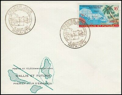 Wallis & Futuna 1962 5Th South Pacific Conference Fdc (Id:189/d45401)