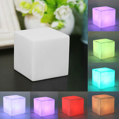 Warm Family Square LED Colorful Changing Night Glow Lamp Light Home Decor