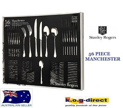 56 Piece Cutlery Set Stainless Steel STANLEY ROGERS MANCHESTER NEW RRP $299