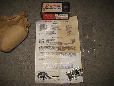 1965 Vintage Pittman USA Slot Car Racing Motor DC77 + Box + Parts + Papers