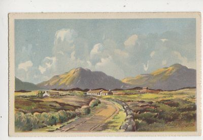 The Road To The Mountains Ireland by David Livingston Vintage Art Postcard 377b
