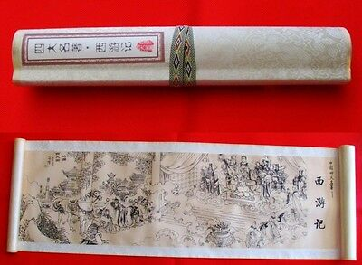 China Four Great Famous Works Journey to the West Silk Painting Scroll