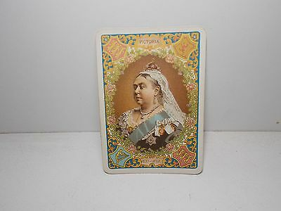 Goodall's Victorian Playing Cards 1900 Queen Victoria  1 X  Swap Card