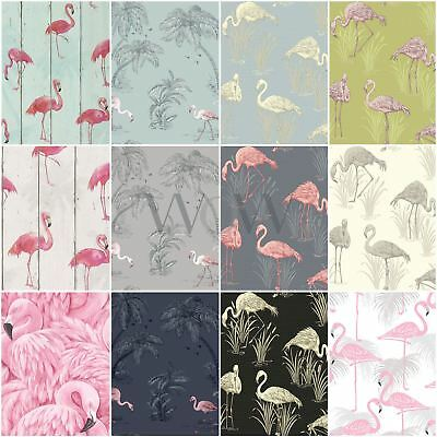 Flamingo Wallpaper - Arthouse Vintage Lagoon, Holden Lake, Rasch Barbara Becker