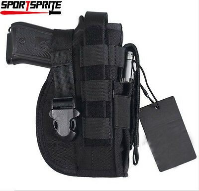 Tactical Gun Holster Molle Modular Pistol Holster for Right Handed Shooter