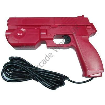 Ultimarc AimTrak Red Arcade Light Gun With Line Of Sight Aiming Without Recoil