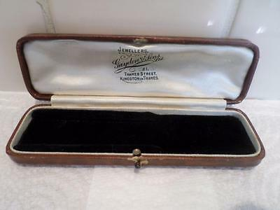 Vintage Jewellery Box. Antique Jewelry Case. Old Jewellers Wristwatch Watch Box
