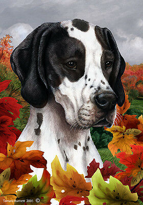 Garden Indoor/Outdoor Fall Flag - Black and White English Pointer 134651