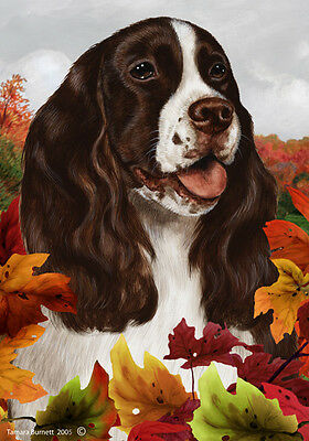 Garden Indoor/Outdoor Fall Flag - Liver & White English Springer Spaniel 130311