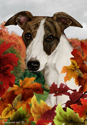 Garden Indoor/Outdoor Fall Flag - Whippet 130621