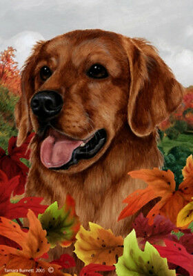 Garden Indoor/Outdoor Fall Flag - Red Golden Retriever 132171