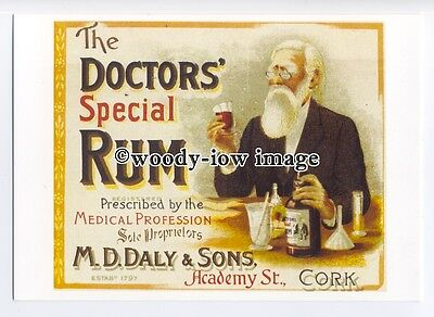 ad0563 - Doctors Special Rum - M.D.Daly & Sons  -  Modern Advert Postcard