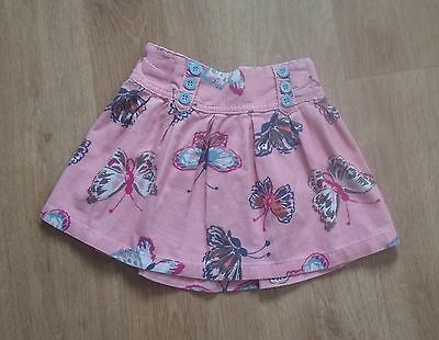 NEXT Baby Girls Coral Pink Butterfly Skirt 18-24 months