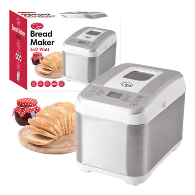 Quest Automatic 12 Program Bread Maker With 13 Hr Programmable Timer 610W White