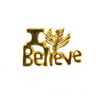 I Believe Lapel Pin, Gold Plated