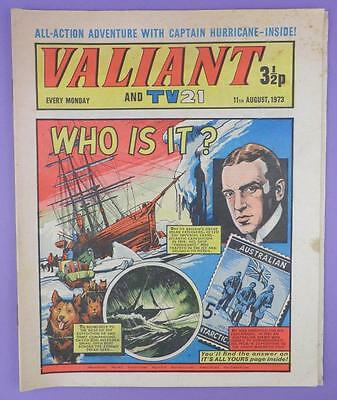 Valliant And TV21 Comic 11th August 1973, Sir Ernest Shackleton On Cover