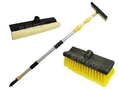 Triple Extending Wash Brush 3 Meters with Squeegee and Scrubber Head