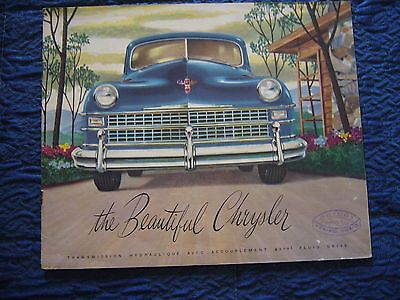 194142  Chrysler Windsor-New Yorker-Imperial-Town & Country  Brochure Originale